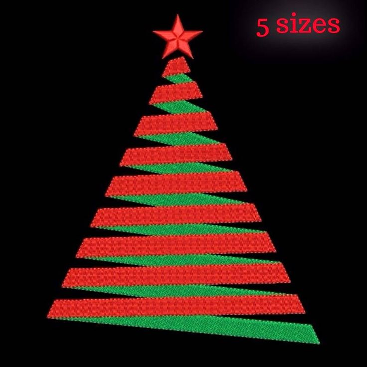 Christmas tree machine embroidery design designs instant digital download pattern gift holiday designs hoop file towel 4 by SvgEmbroideryDesign on Etsy