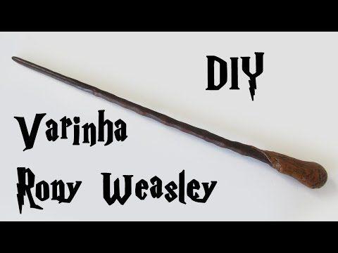 DIY: Como Fazer Varinha Inspirada na Hermione (Harry Potter Wands Tutorial) - YouTube