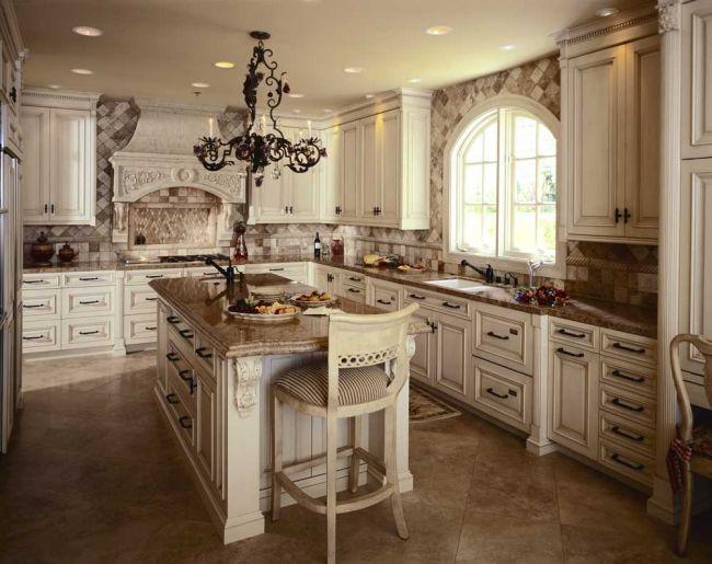 Küche landhausstil französisch, creme beige