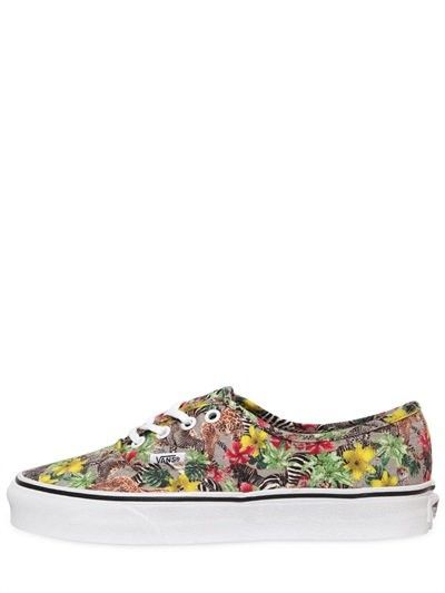 VANS AUTHENTIC KENYA PRINTED COTTON SNEAKER