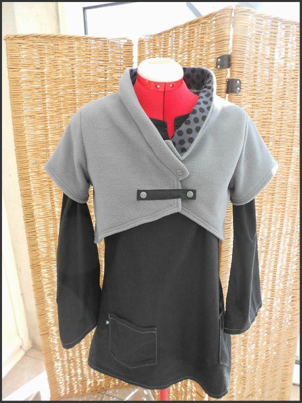 veste courte (tuto de DDou et Cie)