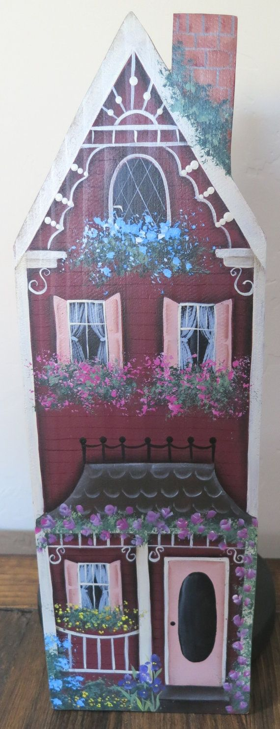 Hand made and painted Victorian house paper by 1RamblingPaintbrush