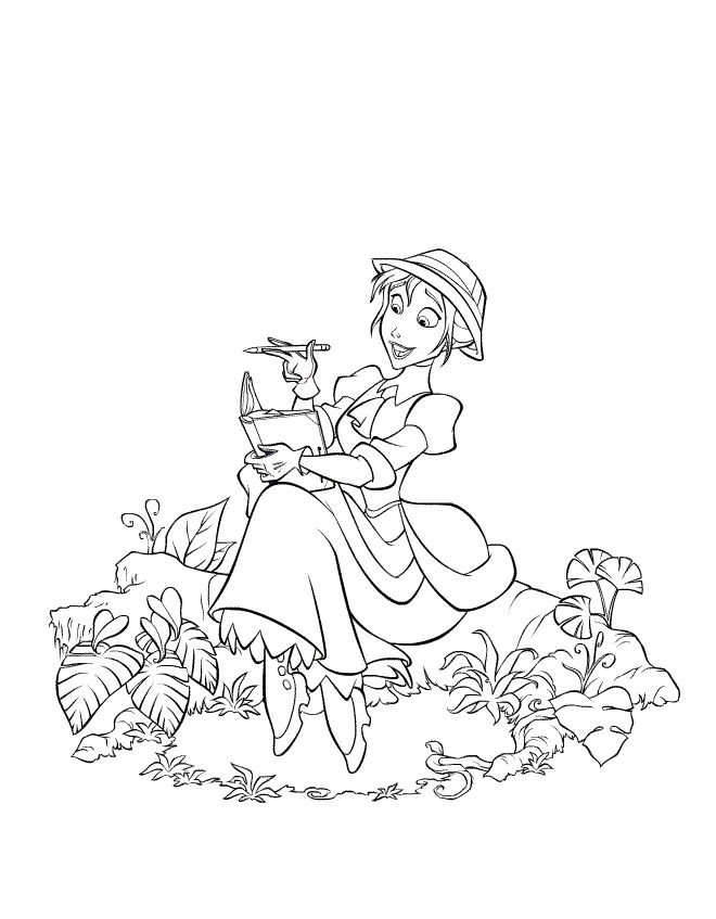 Disney coloring page jane
