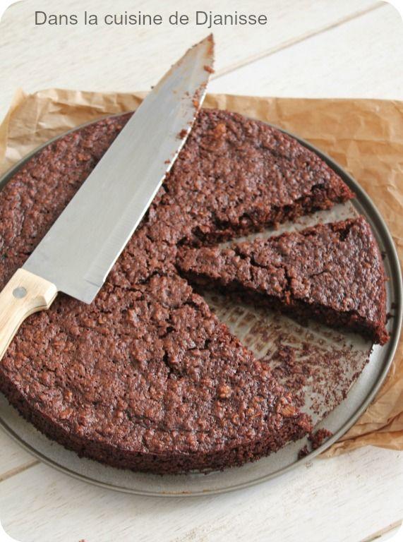 Gâteau moelleux choco-châtaignes {sans farine sans gluten}