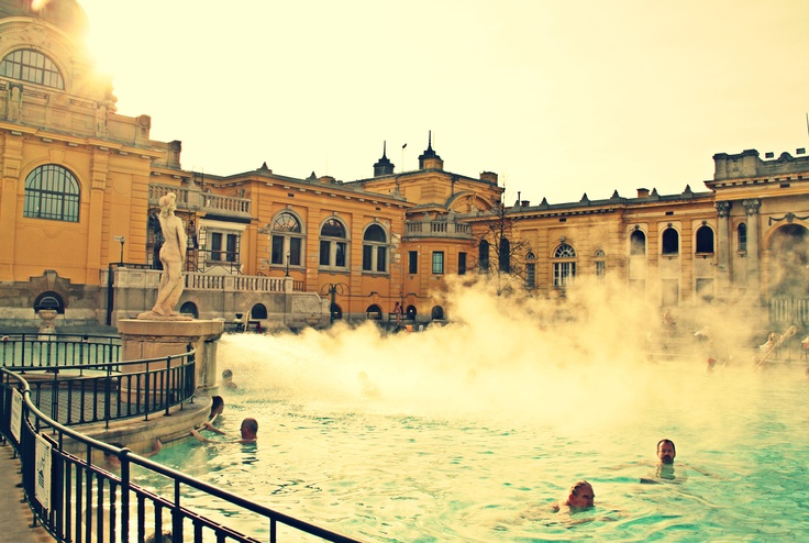 Szechenyi Spa is one of Budapest's most authentic thermal baths. Szechenyi Spa is a 30-min walk from Budapest Keleti pu train station (photo by Abigail King)