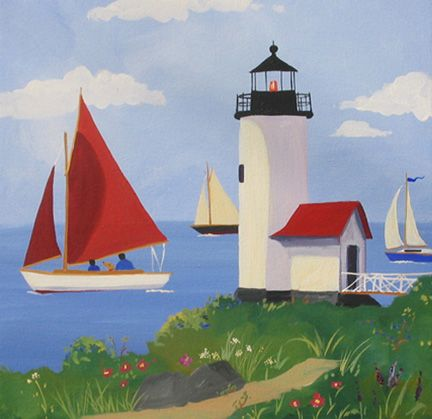 Annisquam Lighthouse,  Gloucester, Massachusetts by Cathryn Hatfield