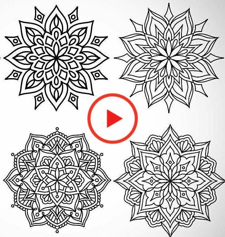 tätowieren  geometrisches mandala geometrisches mandala