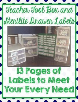Trying to organize your teaching supplies and look cute, too?  These labels are perfect for every type of popular drawer bins.  Green and Navy (and optional NAUTICAL) theme! Include step-by-step instructions. $