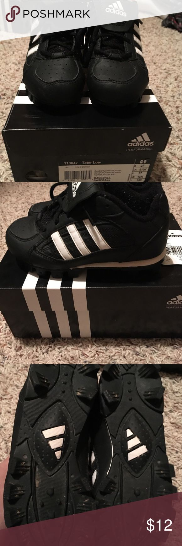 Kids Adidas baseball cleats in size 10k with box Boys Adidas baseball cleats in size 10k with box, tater low-gently used adidas Shoes Sneakers