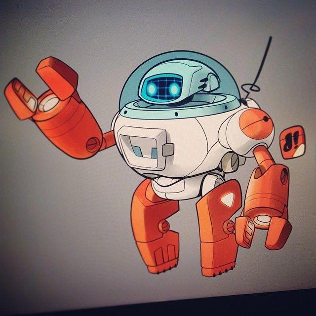 #marchofrobots 14-012 'T-77' By Dacosta! #nostalgia My take on a little piece of my childhood - Rascal Robot @Wacom @CorelPainter www.marchofrobots.com