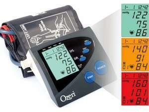 Ozeri CardioTech Premium Series BP4M Digital Arm Cuff Blood Pressure Monitor w/ Color Alert Technology Ozeri CardioTech Prem