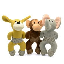 26 cm Grappige Drie Dier Vorm Kleine Pluche Hond Speelgoed Kauwen veilig Interactieve Hond Speelgoed Voor Kauwers Zachte Piepende Speelgoed Voor honden(China (Mainland))