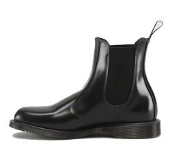 "Dr Martens - ""Flora"" Ladies Chelsea Boot (Black Polished Smooth Leather) - AL15"