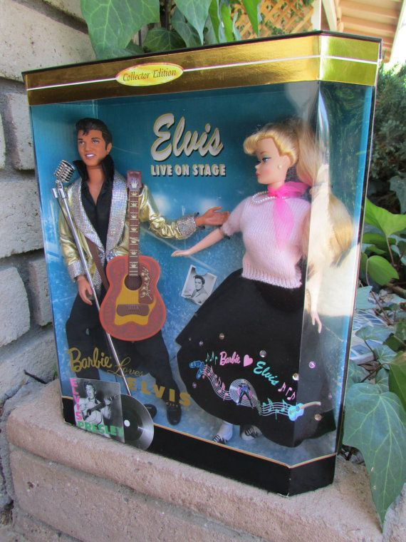 Barbie Loves Elvis Collectors Doll Set  Limited by ViewObscura