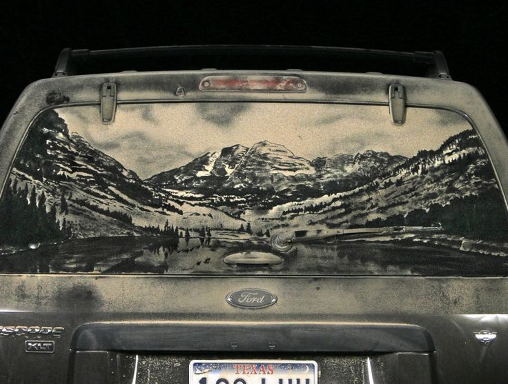 Best Dirt Art Images On Pinterest Cars Car And Cleanses - Scott wade makes wonderful art dusty car windows