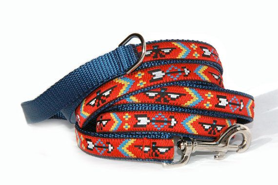 Native American dog leash Tribe Navajo Southwestern by MaritynDog, $26.00