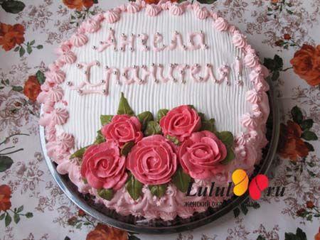 Бисквитный торт с безе «Праздничный»