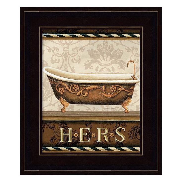 Bourgoisie Bath II Framed Wall Art, Multicolor