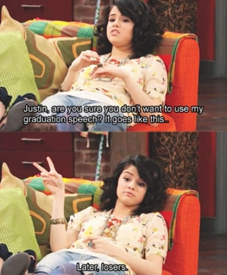 I wonder which Justin she is referring to, her Justin or the tv show Justin. :D