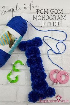 Simple Fun Pom Pom Monogram Letter Aila Pinterest Crafts