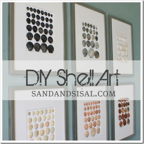 DIY Shell Art  {Finally, a great use for all those collected shells!}: Wall Art, Seashell Craft, Seashell Art, Collected Shells, Seashells, Craft Ideas, Art Finally