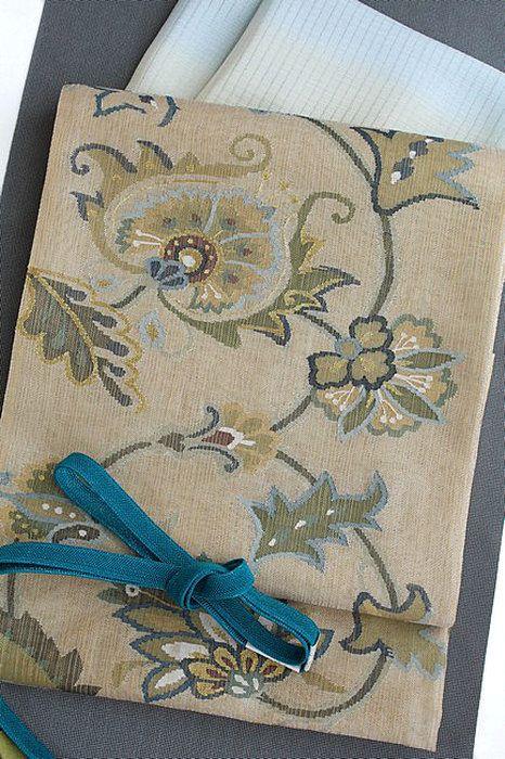 特選金経(きんたて)綴れ袋帯金糸入りつづれ織りフォーマル「葵唐草」超軽量袋帯