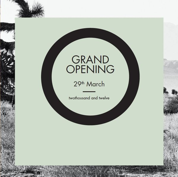 Grand opening design by Charlotte Revsbech, via Behance