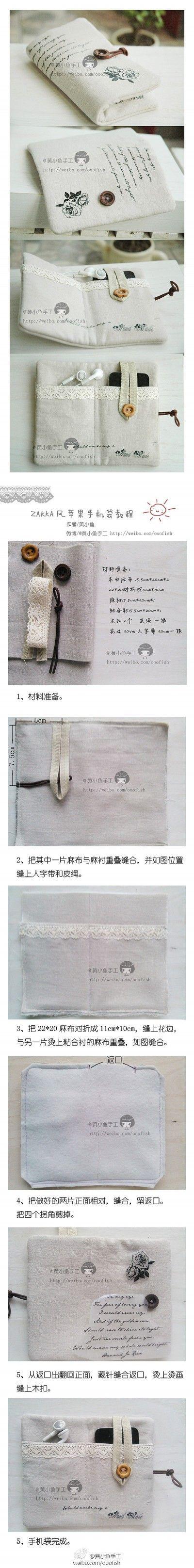 Como hacer Que do paso fresco bolso porción iphone INSTRUCCIONES del tutorial de bricolaje paso
