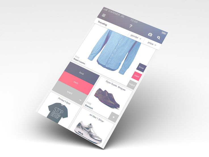 GRIDS - WIP fashion site