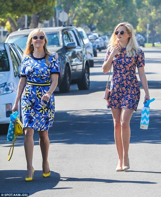 Slight resemblance? Reese Witherspoon, 40, and her daughter Ava Phillippe, 17, were snappe...
