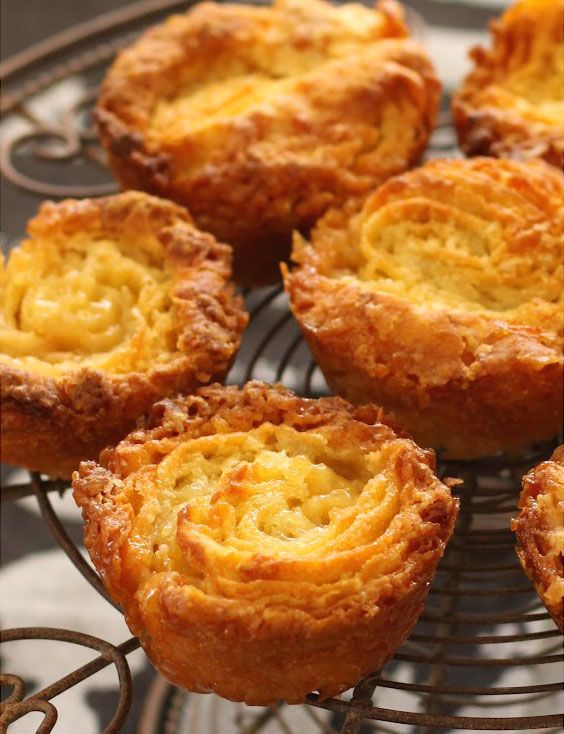 Crispy and caramelized Mini Kouign Amann, the traditional pastry from Brittany, France!