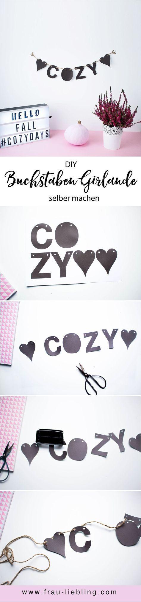 DIY Deko: Buchstaben Girlande selber machen