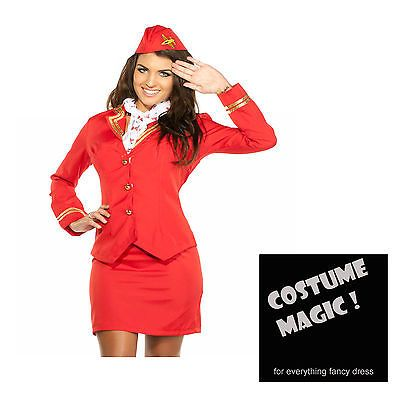 Trolley dolly costume #virgin air #stewardess hostess cabin crew #fancy dress 8-2,  View more on the LINK: http://www.zeppy.io/product/gb/2/262161801835/