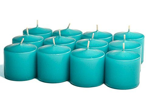 3 Boxes Of Unscented No Fragrance Mediterranean Blue Votive Candles For WeddingDinner Holiday Event Home Decoration 15 Hour 15 in diameter x 225 in tall 12 per box ** More info could be found at the image url. #VotiveCandle