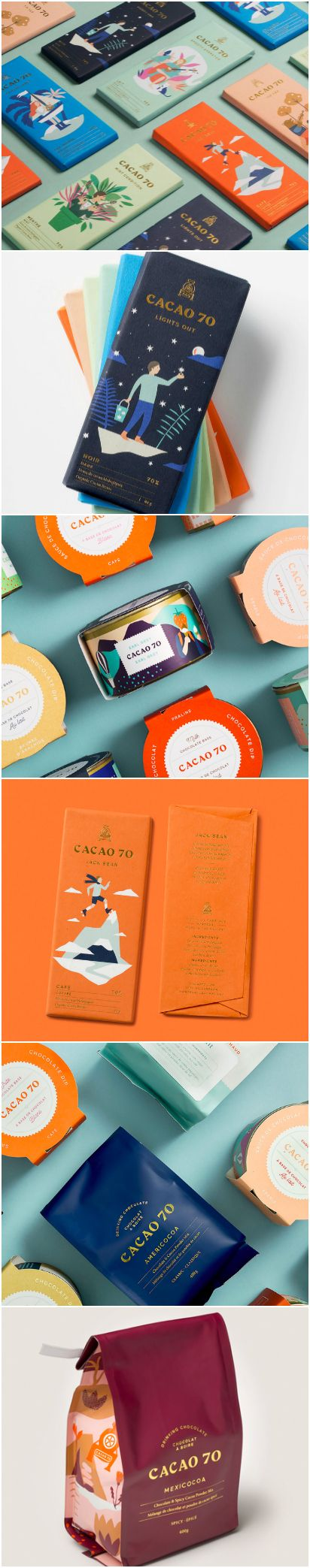 Design Agency IN GOOD COMPANY Brand Consultancy Project name:Cacao 70 Location: Canada Category: #Confectionary #Chocolate