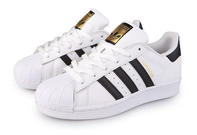 Adidas Superstar GS White Black Women Kids Boys Girls Sz US 6.5 UK 5.5 EU 39.3 #adidas #Trainers