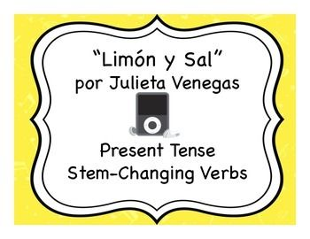 Song activities to practice stem-changing verbs and reading in Spanish.