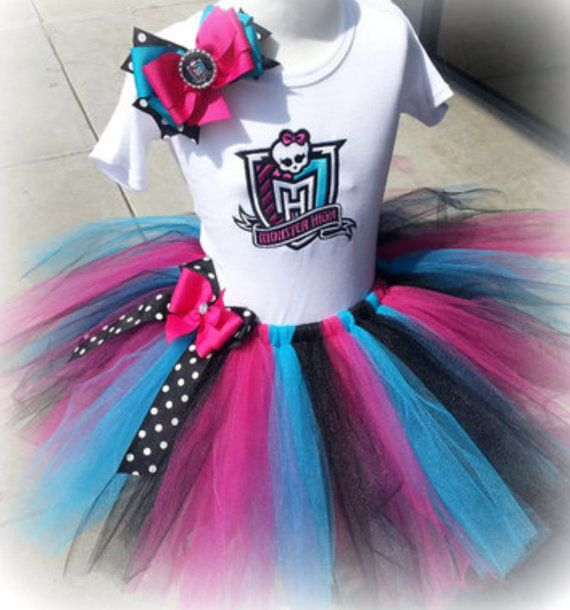Monster High tutu set RTS by OCRockstarzBoutique on Etsy