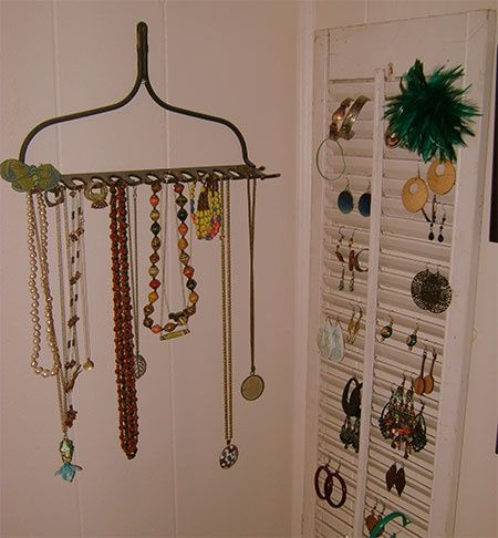 Jewelry holder from a rake - works great! Description from pinterest.com. I searched for this on bing.com/images