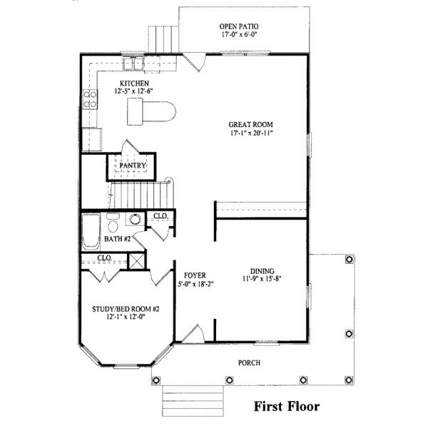 Great Southern Style House Plan   4 Beds 3.00 Baths 2269 Sq/Ft Plan #325 180