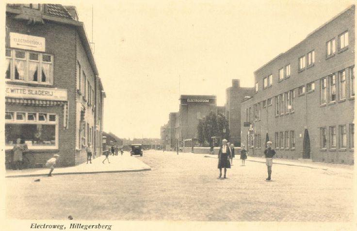 De Electroweg in Hillegersberg in de jaren dertig.