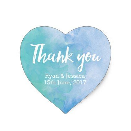 #wedding - #Thank you heart stickers wedding watercolor