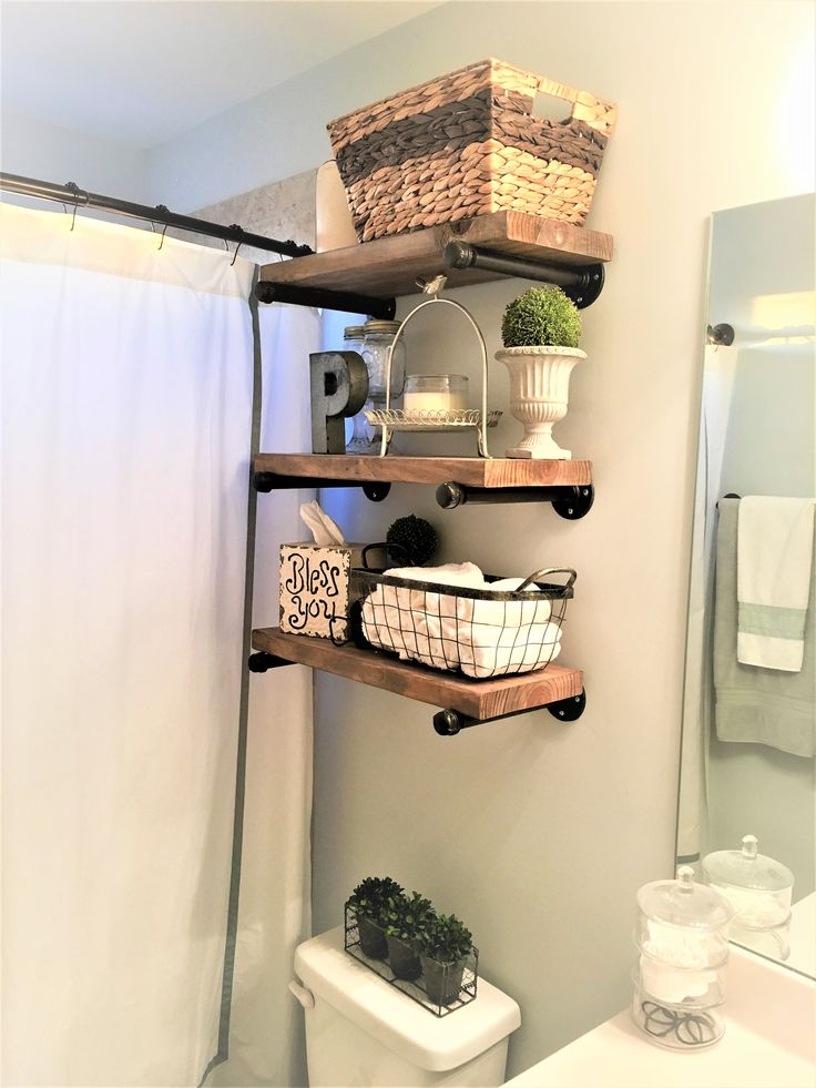 DIY Farmhouse Pipe Shelves – One of the easiest DIY Projects out there! www.Boxw…   – For the Home