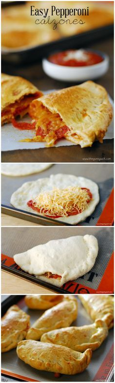 Pepperoni Calzones are easy to make with frozen bread dough and the entire family will love this kid friendly meal!