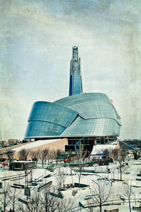 The Canadian Museum for Human Rights in Winnipeg, Manitoba - a work in progress. Image by Carla Dyck