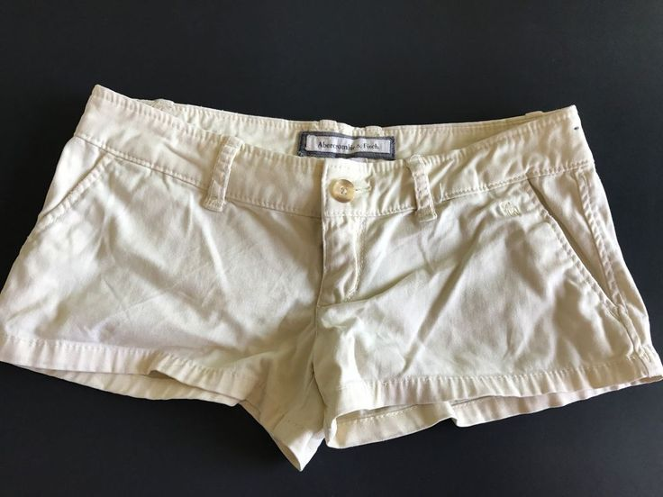 Abercrombie and Fitch Stretch girls Beige Youth Shorts *** FREE SHIPPING *** #AbercrombieFitch #DressyEverydayHoliday