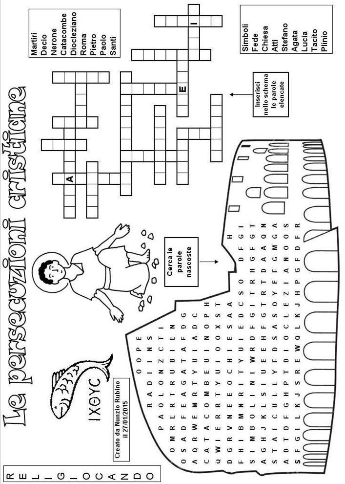 I Super Puzzle Di Religiocando Cruciverba Linsegnamento Della