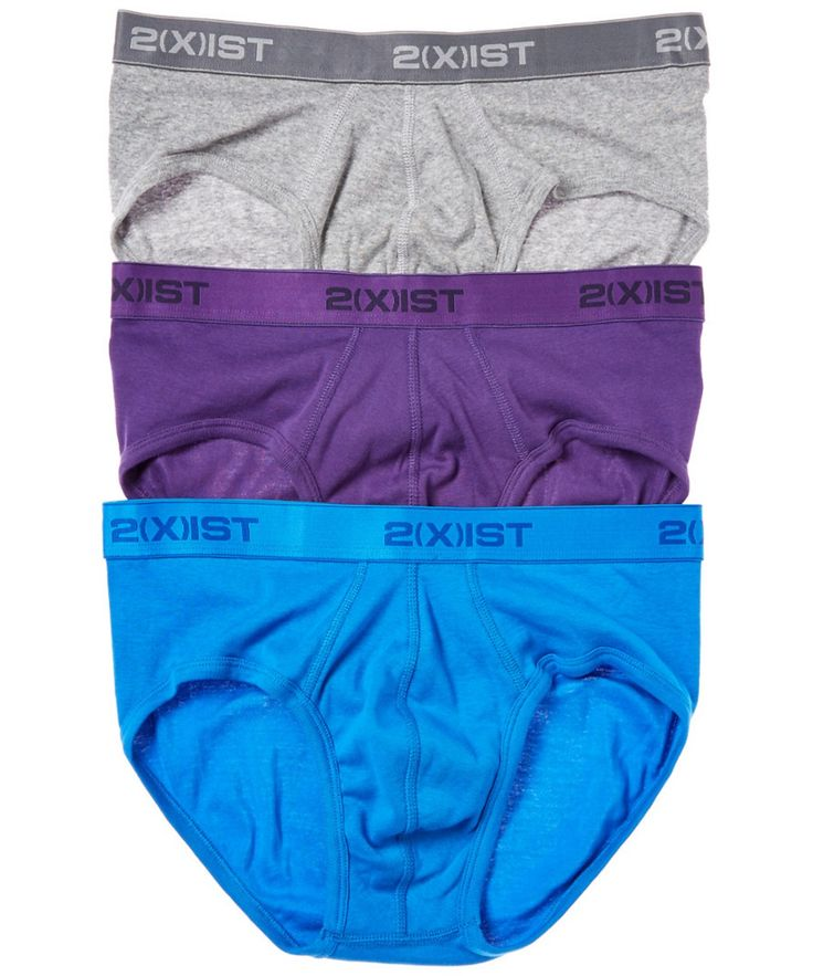 2XIST 2(X)IST PACK OF 3 BRIEFS'. #2xist #cloth #socks & underwear