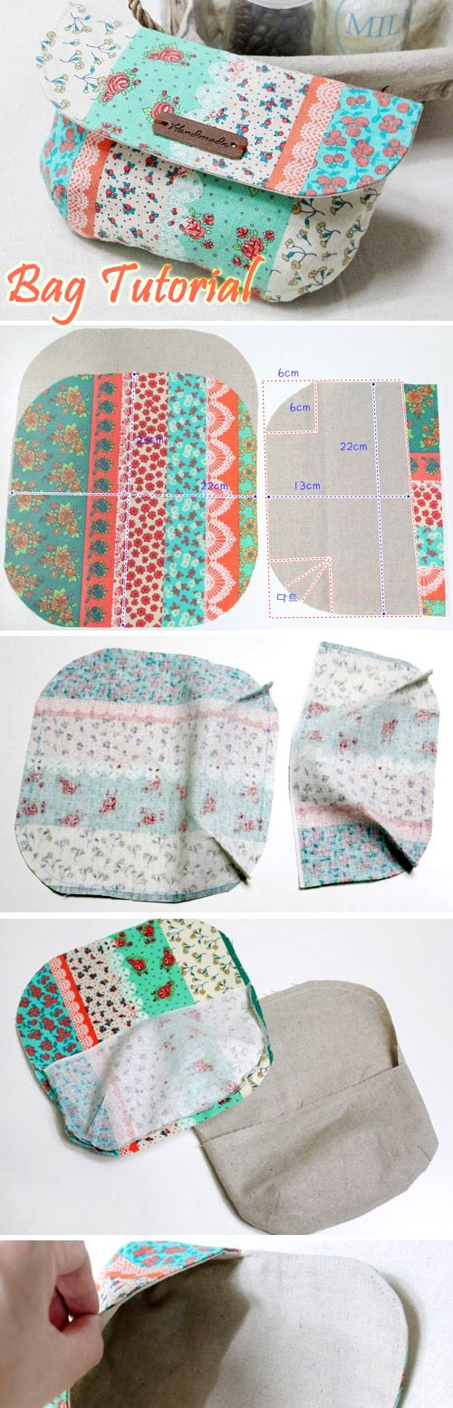 DIY Clutch Purse with a Magnet Clasp nice tutorial nice size. Photo Sewing Tutorial. http://www.handmadiya.com/2016/05/makeup-bag-with-magnetic-clasp-tutorial.html