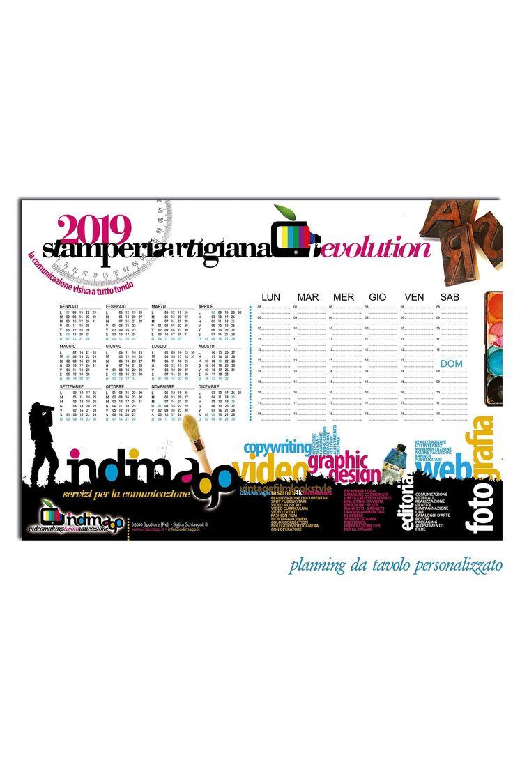 Planning da tavolo, calendario personalizzato da tavolo